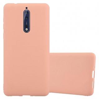 Cadorabo Hülle für Nokia 8 2017 in CANDY ROSA - Handyhülle aus flexiblem TPU Silikon - Silikonhülle Schutzhülle Ultra Slim Soft Back Cover Case Bumper
