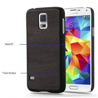 Cadorabo Hülle für Samsung Galaxy S5 / S5 NEO in WOODY SCHWARZ ? Hardcase Handyhülle aus Plastik gegen Kratzer und Stöße ? Schutzhülle Bumper Ultra Slim Back Case Hard Cover - Vorschau 5