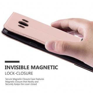 Cadorabo Hülle für Samsung Galaxy J7 2016 in GOLD SCHWARZ ? Handyhülle mit Magnetverschluss, Standfunktion und Kartenfach ? Case Cover Schutzhülle Etui Tasche Book Klapp Style - Vorschau 5