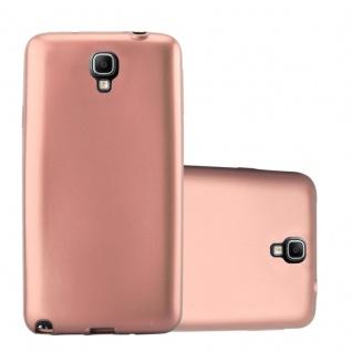 Cadorabo Hülle für Samsung Galaxy NOTE 3 NEO in METALLIC ROSE GOLD - Handyhülle aus flexiblem TPU Silikon - Silikonhülle Schutzhülle Ultra Slim Soft Back Cover Case Bumper