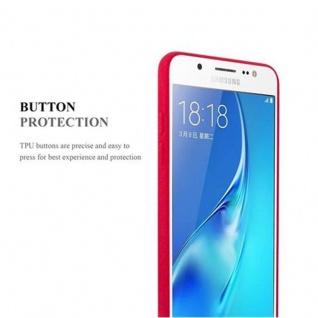 Cadorabo Hülle für Samsung Galaxy J5 2016 in FROST ROT - Handyhülle aus flexiblem TPU Silikon - Silikonhülle Schutzhülle Ultra Slim Soft Back Cover Case Bumper - Vorschau 3