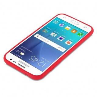 Cadorabo Hülle für Samsung Galaxy J2 2015 in CANDY ROT - Handyhülle aus flexiblem TPU Silikon - Silikonhülle Schutzhülle Ultra Slim Soft Back Cover Case Bumper - Vorschau 3