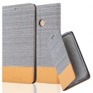 Cadorabo Hülle für Xiaomi Mi MAX 2 in HELL GRAU BRAUN - Handyhülle mit Magnetverschluss, Standfunktion und Kartenfach - Case Cover Schutzhülle Etui Tasche Book Klapp Style