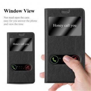 Cadorabo Hülle für Samsung Galaxy NOTE 3 in KOMETEN SCHWARZ ? Handyhülle mit Magnetverschluss, Standfunktion und 2 Sichtfenstern ? Case Cover Schutzhülle Etui Tasche Book Klapp Style - Vorschau 3
