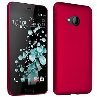 Cadorabo Hülle für HTC U PLAY in METALL ROT - Hardcase Handyhülle aus Plastik gegen Kratzer und Stöße - Schutzhülle Bumper Ultra Slim Back Case Hard Cover