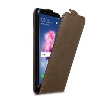 Cadorabo Hülle für Huawei P SMART / Enjoy 7S in KAFFEE BRAUN Handyhülle im Flip Design mit Magnetverschluss Case Cover Schutzhülle Etui Tasche Book Klapp Style