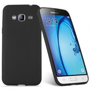 Cadorabo Hülle für Samsung Galaxy J3 2015 in CANDY SCHWARZ - Handyhülle aus flexiblem TPU Silikon - Silikonhülle Schutzhülle Ultra Slim Soft Back Cover Case Bumper - Vorschau 2