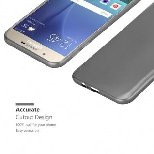 Cadorabo Hülle für Samsung Galaxy A8 2015 in METALLIC GRAU - Handyhülle aus flexiblem TPU Silikon - Silikonhülle Schutzhülle Ultra Slim Soft Back Cover Case Bumper - Vorschau 5