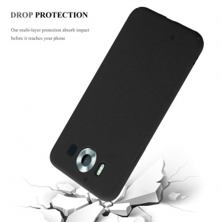 Cadorabo Hülle für Nokia Lumia 950 in FROSTY SCHWARZ - Hardcase Handyhülle aus Plastik gegen Kratzer und Stöße - Schutzhülle Bumper Ultra Slim Back Case Hard Cover - Vorschau 4