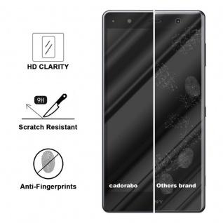 Cadorabo Vollbild Panzer Folie für Sony Xperia XZ2 PREMIUM - Schutzfolie in TRANSPARENT mit SCHWARZ - Gehärtetes (Tempered) Display-Schutzglas in 9H Härte mit 3D Touch Kompatibilität - Vorschau 3
