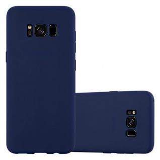 Cadorabo Hülle für Samsung Galaxy S8 in CANDY DUNKEL BLAU - Handyhülle aus flexiblem TPU Silikon - Silikonhülle Schutzhülle Ultra Slim Soft Back Cover Case Bumper