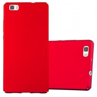 Cadorabo Hülle für Huawei P8 LITE 2015 in METALL ROT - Hardcase Handyhülle aus Plastik gegen Kratzer und Stöße - Schutzhülle Bumper Ultra Slim Back Case Hard Cover