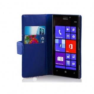 Cadorabo Hülle für Nokia Lumia 925 in BRILLANT BLAU ? Handyhülle aus glattem Kunstleder mit Standfunktion und Kartenfach ? Case Cover Schutzhülle Etui Tasche Book Klapp Style