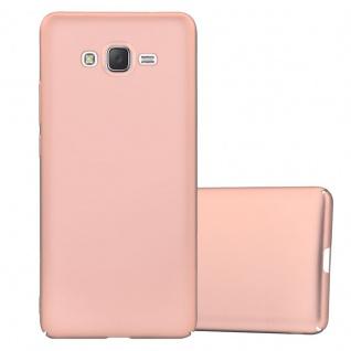 Cadorabo Hülle für Samsung Galaxy J7 2015 in METALL ROSÉ GOLD - Hardcase Handyhülle aus Plastik gegen Kratzer und Stöße - Schutzhülle Bumper Ultra Slim Back Case Hard Cover