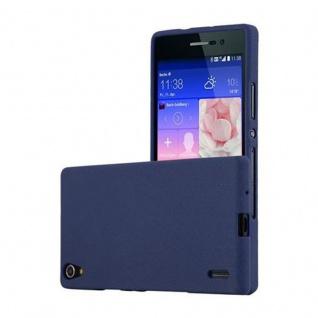 Cadorabo Hülle für Huawei P7 in FROST DUNKEL BLAU - Handyhülle aus flexiblem TPU Silikon - Silikonhülle Schutzhülle Ultra Slim Soft Back Cover Case Bumper