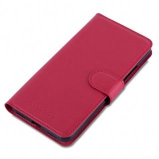 Cadorabo Hülle für Huawei Y6 2015 / Honor 4A in KARMIN ROT - Handyhülle mit Magnetverschluss, Standfunktion und Kartenfach - Case Cover Schutzhülle Etui Tasche Book Klapp Style - Vorschau 3
