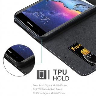 Cadorabo Hülle für LG K8 2017 in SCHWARZ BRAUN ? Handyhülle mit Magnetverschluss, Standfunktion und Kartenfach ? Case Cover Schutzhülle Etui Tasche Book Klapp Style