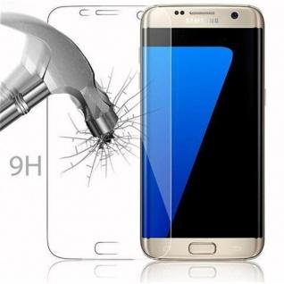Cadorabo Panzer Folie für Samsung Galaxy S7 EDGE - Schutzfolie in KRISTALL KLAR - Gehärtetes (Tempered) Display-Schutzglas in 9H Härte mit 3D Touch Kompatibilität - Vorschau 3