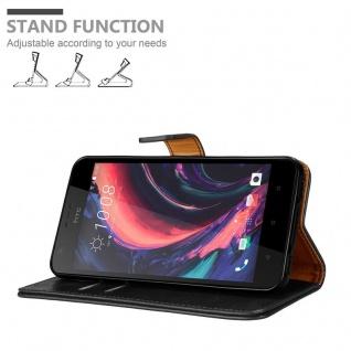 Cadorabo Hülle für HTC Desire 10 Lifestyle / Desire 825 in GRAPHIT SCHWARZ - Handyhülle mit Magnetverschluss, Standfunktion und Kartenfach - Case Cover Schutzhülle Etui Tasche Book Klapp Style - Vorschau 4