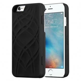 Cadorabo - TPU Hard Cover für Apple iPhone 6 PLUS / iPhone 6S PLUS mit Muster, Spiegel und 3 Kartenfächer ? Case Schutzhülle in SCHWARZ - Vorschau 2
