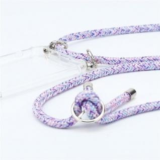 Cadorabo Handy Kette für Huawei P9 in UNICORN - Silikon Necklace Umhänge Hülle mit Silber Ringen, Kordel Band Schnur und abnehmbarem Etui - Schutzhülle - Vorschau 2