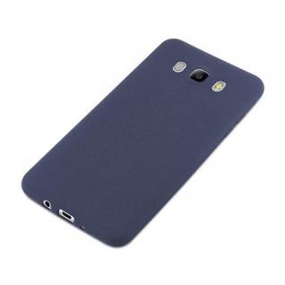Cadorabo Hülle für Samsung Galaxy J7 2016 in FROST DUNKEL BLAU - Handyhülle aus flexiblem TPU Silikon - Silikonhülle Schutzhülle Ultra Slim Soft Back Cover Case Bumper - Vorschau 3