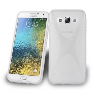 Cadorabo Hülle für Samsung Galaxy E5 in HALB TRANSPARENT ? Handyhülle aus flexiblem TPU Silikon ? Silikonhülle Schutzhülle Ultra Slim Soft Back Cover Case Bumper