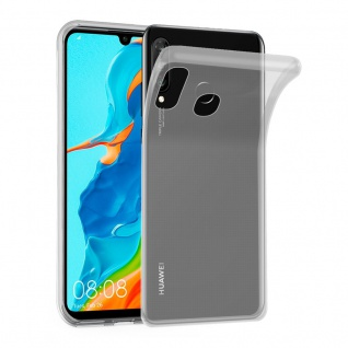 Cadorabo Hülle für Huawei P30 LITE in VOLL TRANSPARENT - Handyhülle aus flexiblem TPU Silikon - Silikonhülle Schutzhülle Ultra Slim Soft Back Cover Case Bumper