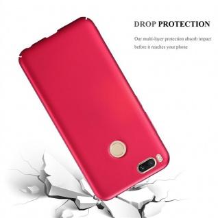 Cadorabo Hülle für Xiaomi Mi A1 / 5X in METALL ROT ? Hardcase Handyhülle aus Plastik gegen Kratzer und Stöße ? Schutzhülle Bumper Ultra Slim Back Case Hard Cover - Vorschau 3