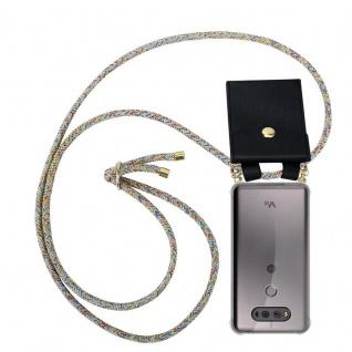 Cadorabo Handy Kette für LG V20 in RAINBOW - Silikon Necklace Umhänge Hülle mit Gold Ringen, Kordel Band Schnur und abnehmbarem Etui ? Schutzhülle