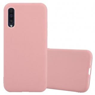 Cadorabo Hülle für Samsung Galaxy A50 in CANDY ROSA - Handyhülle aus flexiblem TPU Silikon - Silikonhülle Schutzhülle Ultra Slim Soft Back Cover Case Bumper