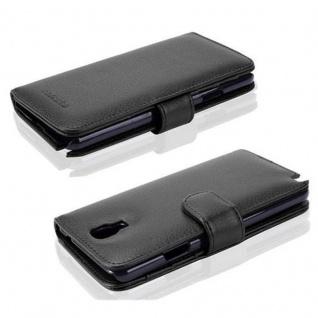 Cadorabo Hülle für Samsung Galaxy NOTE 3 NEO in OXID SCHWARZ ? Handyhülle mit Magnetverschluss und 3 Kartenfächern ? Case Cover Schutzhülle Etui Tasche Book Klapp Style - Vorschau 2