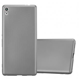 Cadorabo Hülle für Sony Xperia XA ULTRA in METALLIC GRAU - Handyhülle aus flexiblem TPU Silikon - Silikonhülle Schutzhülle Ultra Slim Soft Back Cover Case Bumper