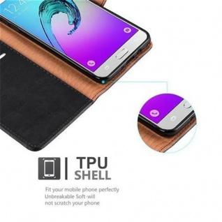 Cadorabo Hülle für Samsung Galaxy J5 2016 in GRAPHIT SCHWARZ ? Handyhülle mit Magnetverschluss, Standfunktion und Kartenfach ? Case Cover Schutzhülle Etui Tasche Book Klapp Style - Vorschau 4