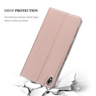 Cadorabo Hülle für HTC Desire 10 Lifestyle / Desire 825 in CLASSY ROSÉ GOLD - Handyhülle mit Magnetverschluss, Standfunktion und Kartenfach - Case Cover Schutzhülle Etui Tasche Book Klapp Style - Vorschau 5