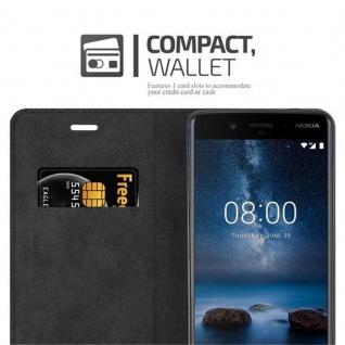 Cadorabo Hülle für Nokia 8 2017 in APFEL ROT - Handyhülle mit Magnetverschluss, Standfunktion und Kartenfach - Case Cover Schutzhülle Etui Tasche Book Klapp Style - Vorschau 5