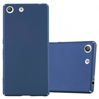 Cadorabo Hülle für Sony Xperia M5 - Hülle in METALL BLAU ? Hardcase Handyhülle im Matt Metal Design - Schutzhülle Bumper Back Case Cover