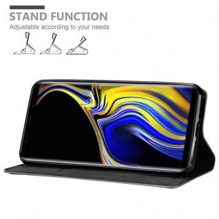Cadorabo Hülle für Samsung Galaxy NOTE 9 in KAFFEE BRAUN - Handyhülle mit Magnetverschluss, Standfunktion und Kartenfach - Case Cover Schutzhülle Etui Tasche Book Klapp Style - Vorschau 4