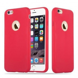 Cadorabo Hülle für Apple iPhone 6 PLUS / iPhone 6S PLUS - Hülle in CANDY ROT ? Handyhülle aus TPU Silikon im Candy Design - Ultra Slim Soft Backcover Case Bumper