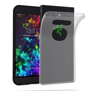 Cadorabo Hülle für Razer Phone 2 in VOLL TRANSPARENT - Handyhülle aus flexiblem TPU Silikon - Silikonhülle Schutzhülle Ultra Slim Soft Back Cover Case Bumper