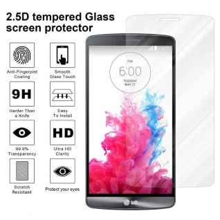 Cadorabo Panzer Folie für LG G3 - Schutzfolie in KRISTALL KLAR - Gehärtetes (Tempered) Display-Schutzglas in 9H Härte mit 3D Touch Kompatibilität - Vorschau 4