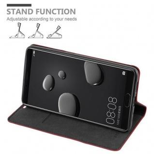 Cadorabo Hülle für Huawei MATE 10 in APFEL ROT - Handyhülle mit Magnetverschluss, Standfunktion und Kartenfach - Case Cover Schutzhülle Etui Tasche Book Klapp Style - Vorschau 3