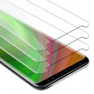 Cadorabo 3x Panzer Folie für Samsung Galaxy S8 - Schutzfolie in KRISTALL KLAR - 3er Pack Gehärtetes (Tempered) Display-Schutzglas in 9H Härte mit 3D Touch Kompatibilität