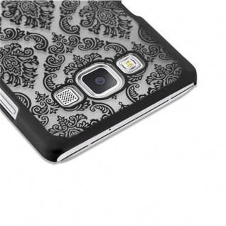 Samsung Galaxy A5 2015 Hardcase Hülle in SCHWARZ von Cadorabo - Blumen Paisley Henna Design Schutzhülle ? Handyhülle Bumper Back Case Cover - Vorschau 4