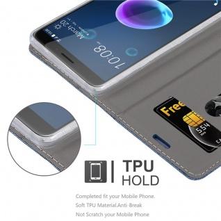 Cadorabo Hülle für HTC Desire 12 in DUNKEL BLAU SCHWARZ - Handyhülle mit Magnetverschluss, Standfunktion und Kartenfach - Case Cover Schutzhülle Etui Tasche Book Klapp Style - Vorschau 2