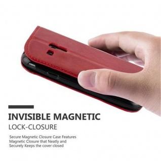Cadorabo Hülle für Samsung Galaxy S3 MINI in APFEL ROT - Handyhülle mit Magnetverschluss, Standfunktion und Kartenfach - Case Cover Schutzhülle Etui Tasche Book Klapp Style - Vorschau 5