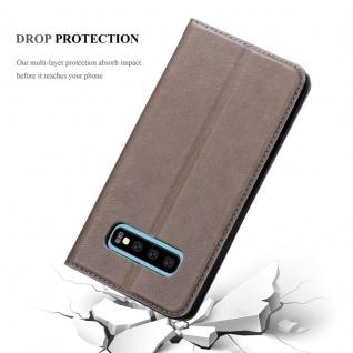 Cadorabo Hülle für Samsung Galaxy S10 PLUS in KAFFEE BRAUN - Handyhülle mit Magnetverschluss, Standfunktion und Kartenfach - Case Cover Schutzhülle Etui Tasche Book Klapp Style - Vorschau 5