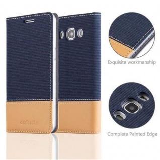 Cadorabo Hülle für Samsung Galaxy J5 2016 in DUNKEL BLAU BRAUN - Handyhülle mit Magnetverschluss, Standfunktion und Kartenfach - Case Cover Schutzhülle Etui Tasche Book Klapp Style - Vorschau 2