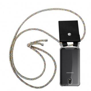 Cadorabo Handy Kette für Samsung Galaxy NOTE 3 in RAINBOW - Silikon Necklace Umhänge Hülle mit Silber Ringen, Kordel Band Schnur und abnehmbarem Etui - Schutzhülle