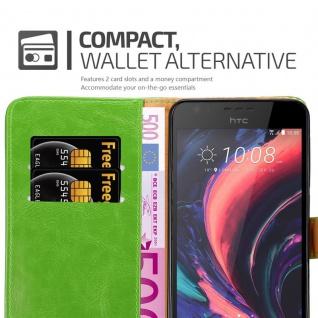Cadorabo Hülle für HTC Desire 10 Lifestyle / Desire 825 in GRAS GRÜN - Handyhülle mit Magnetverschluss, Standfunktion und Kartenfach - Case Cover Schutzhülle Etui Tasche Book Klapp Style - Vorschau 5